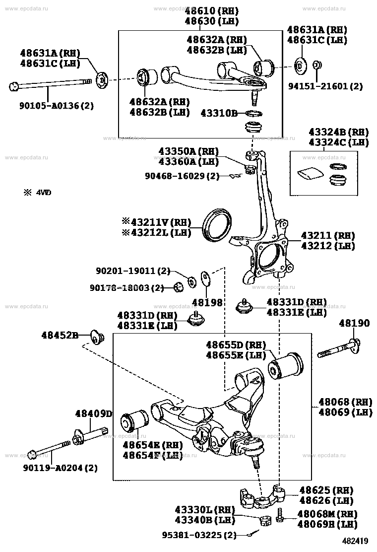 FRONT AXLE ARM & STEERING KNUCKLE